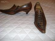 Продам женские туфли 37 кожа ручная работа Италия слегка б/у