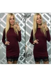 Оригинальное платье с гипюровой оборкой артикул - Артикул: Ам9258-2