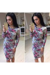 Платье футляр (цветочный принт) артикул - Артикул:  Ам9265