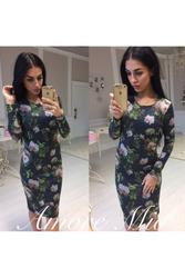 Платье футляр (цветочный принт) артикул - Артикул: Ам9266-2