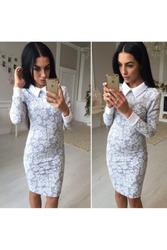 Классическое платье с воротником артикул - Артикул: Ам9269-2