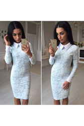 Классическое платье с воротником артикул - Артикул:  Ам9269-1