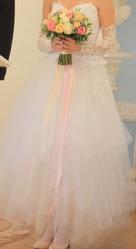 свадебное платье-трансформер и длинные перчатки
