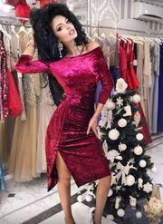Бархатное платье для вечеринки